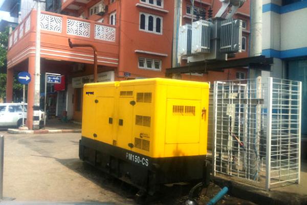 越南城市交通建设100KW超静音发电机组项目