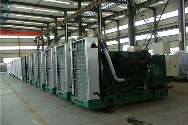南非商业数据中心十台300KW沃尔沃发电机组