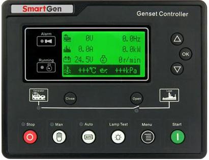 众智HSC960大面板燃气发电机组控制器