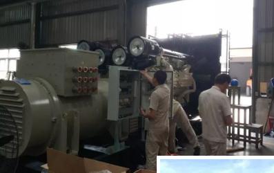 中船现代顺利交验SBM Fast4wardFPSO 应急发电机组