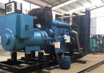 内蒙古光伏材料400KW玉柴柴油发电机组交付使用
